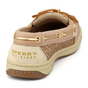 """SPERRY Angelfish"""" Boat Shoe with Gold Glitter"""